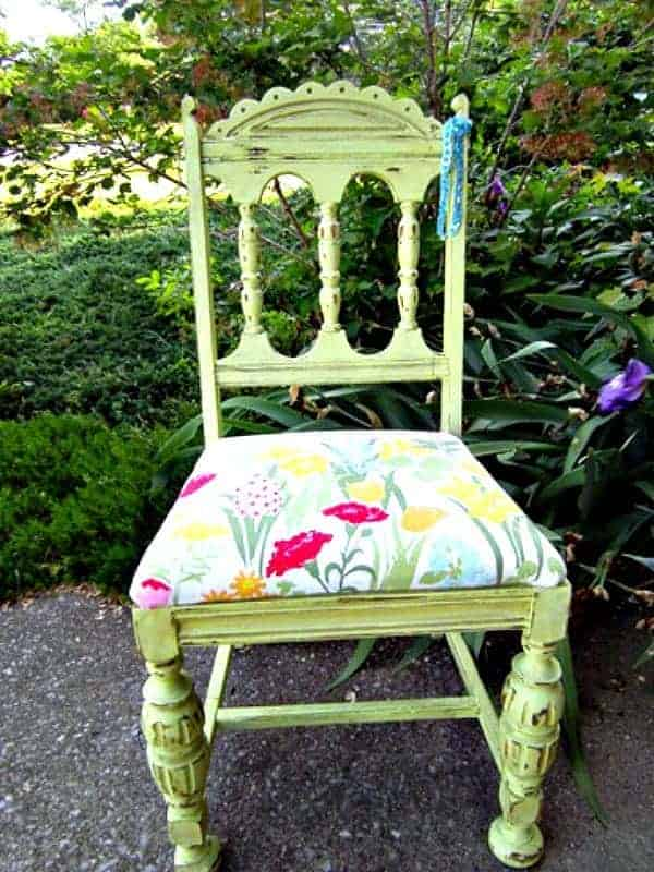 Painted Vintage Wood Chair