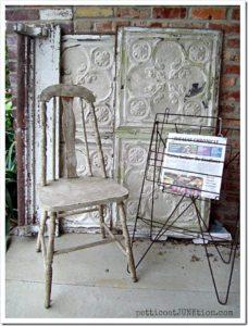 fabulous finds Petticoat Junktion chippy white paint