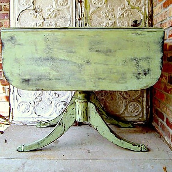 How To Paint A Vintage Drop Leaf Table