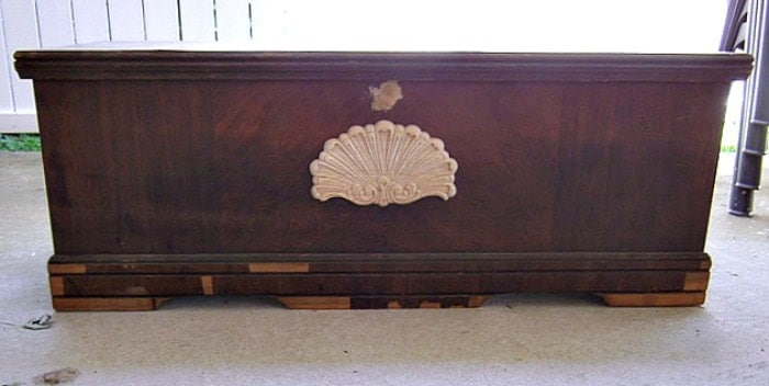 unpainted cedar chest