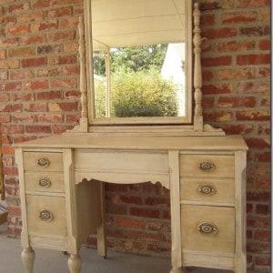 "Vintage dresser and mirror up-graded to ""UNDERSTATED ELEGANCE"""