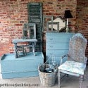 Turquoise painted furniture Petticoat Junktion