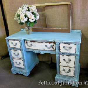 heavily-distressed-furniture-project-blue-and-white-desk