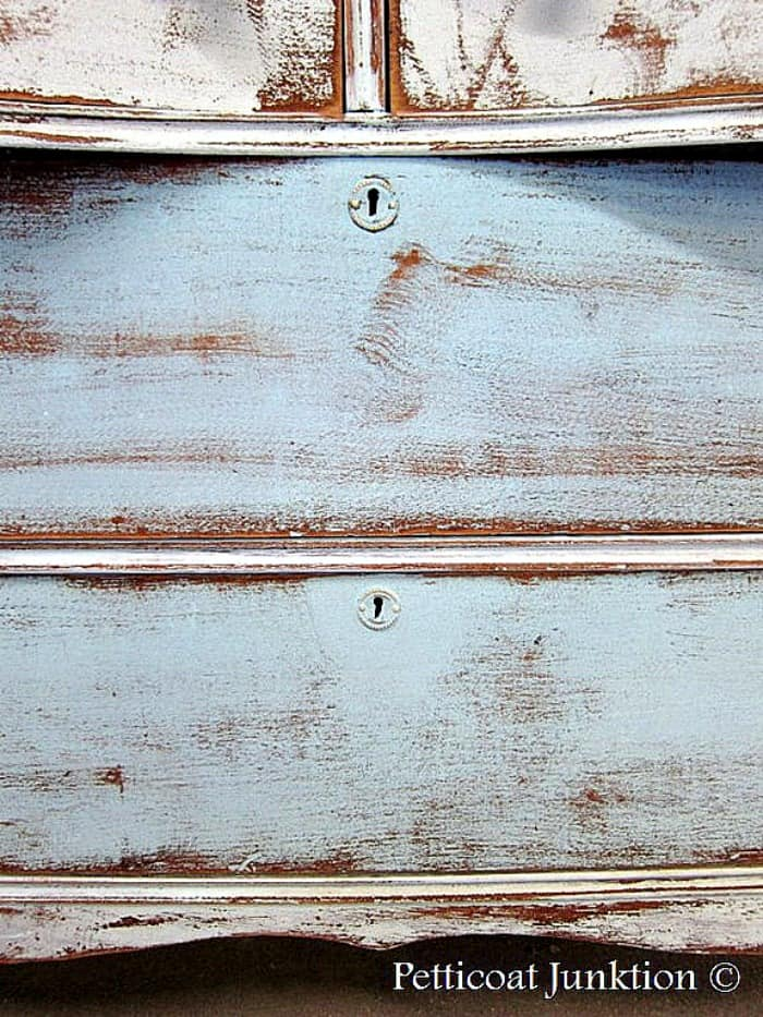 heavily distressed painted furniture