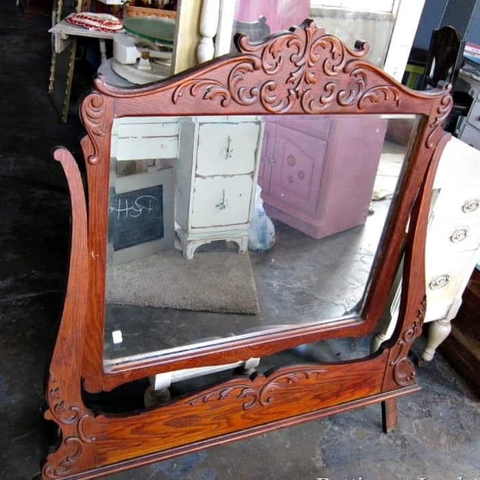 vintage mirror dresser topper