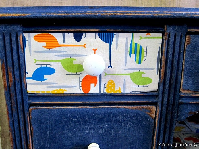 Decoupage Furniture Using Fabric