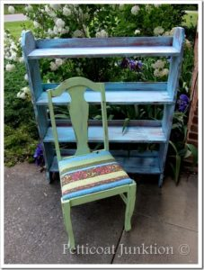 Bold Aqua and Bright Green painted furniture
