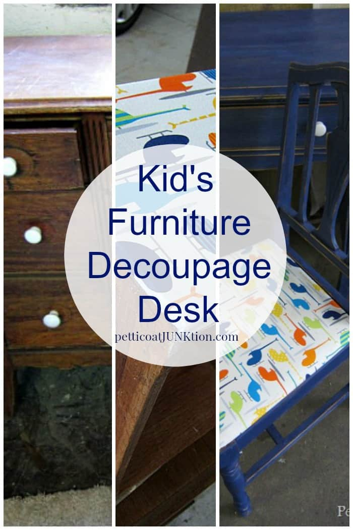 Decoupage furniture project for a kid's room