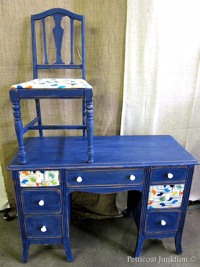 desk takes flight decoupage furniture project