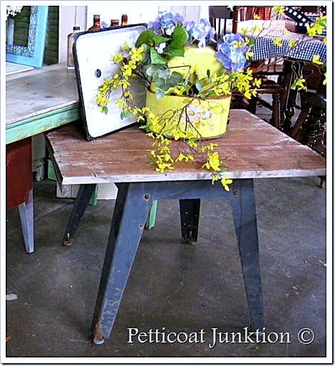 reclaimed wood and metal industrial table petticoat junktion