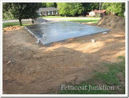 owen workshop construction concrete pad Petticoat Junktion