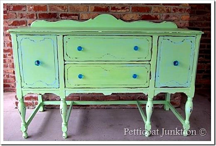 turquoise and green buffet Petticoat Junktion
