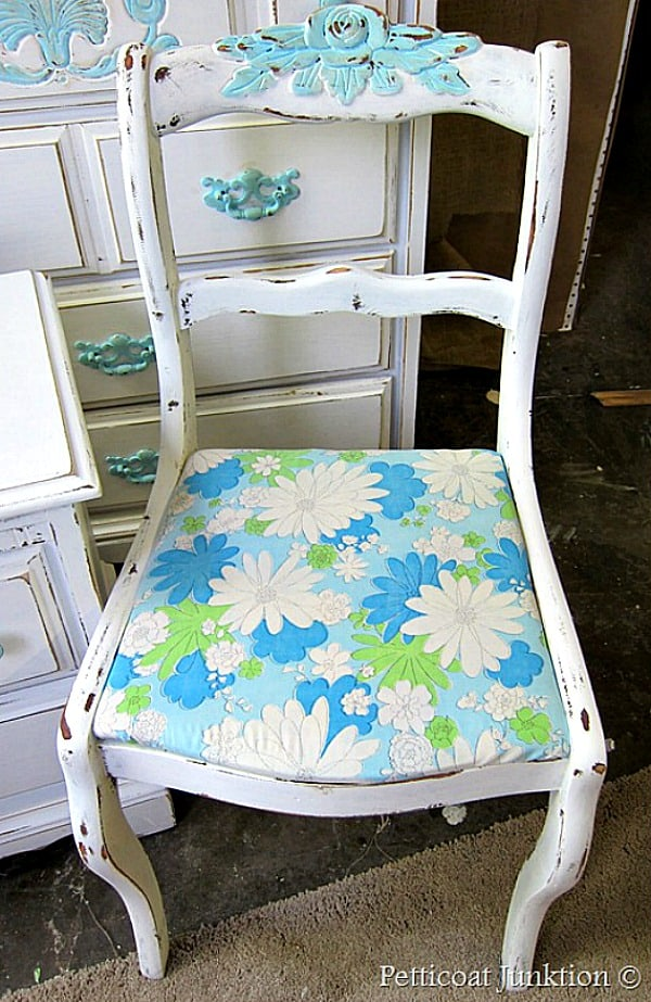 dreamy blue and white furniture makeover Petticoat Junktion