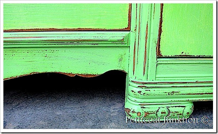 green distressed painted furniture Petticoat Junktion