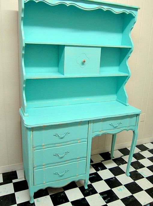 French Provincial Furniture Painted Turquoise