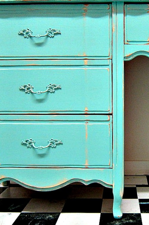 French Provincial Furniture Makeover With A Custom Mix Color