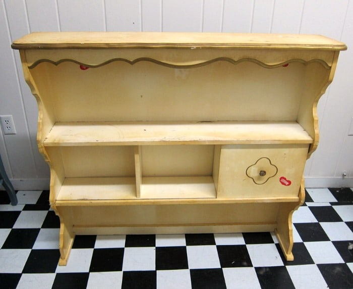 French Provincial hutch before painting
