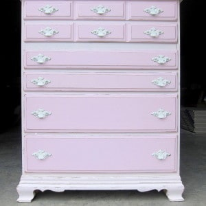 pink painted chest of drawers, Petticoat Junktion