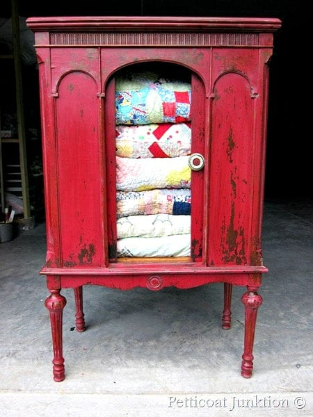 Cabinet painted with MMS Milk Paint in Tricycle Ted