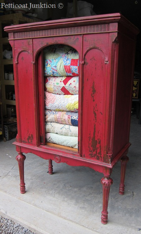 quilt-cabinet-painted-red-diy