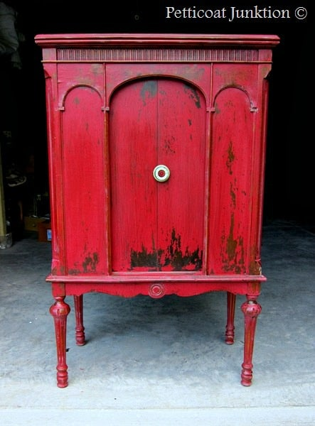 MMS Milk Paint Tricycle Red Cabinet