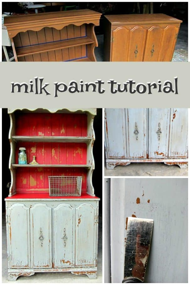 how to use milk paint the proper way to get the right amount of chippiness on furniture