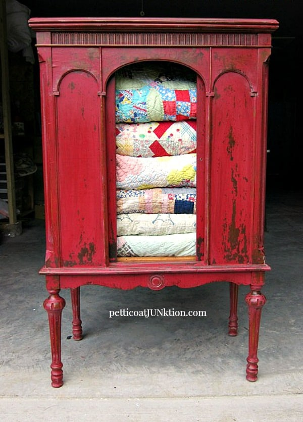 wowed by my first Miss Mustard Seeds Milk Paint project in Tricycle Red by Petticoat Junktion