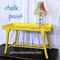 yellow chalk paint table Petticoat Junktion