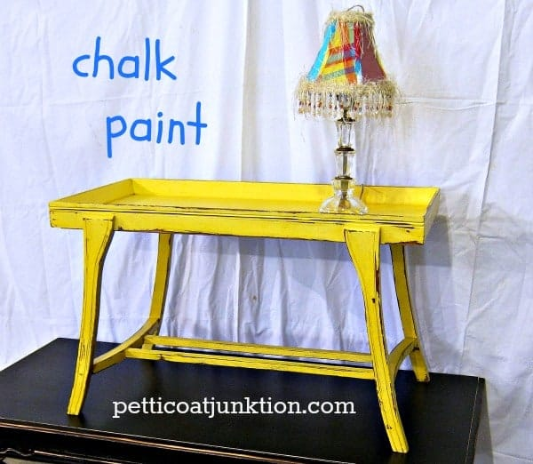 A tale of two tables petticoat junktion for Yellow painted table