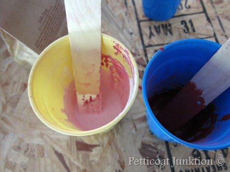 mixing MMS Milk Paint, Petticoat Junktion