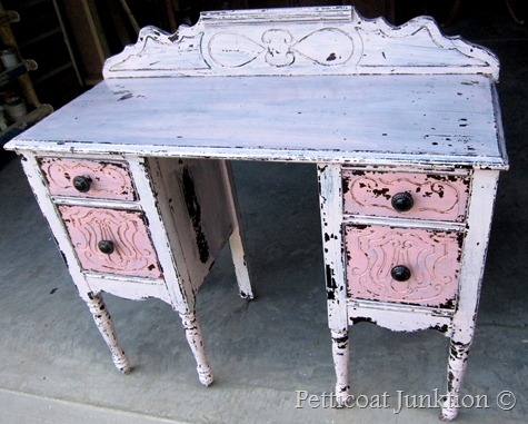 MMS Milk Paint custom color project, Petticoat Junktion