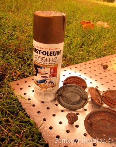 Spray painting hardware, Petticoat Junktion