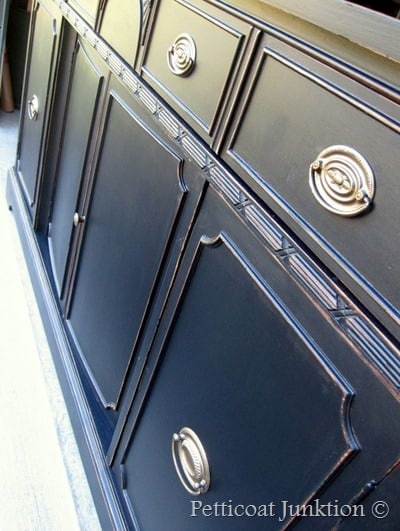 Painted Furniture, Black Buffet, Petticoat Junktion