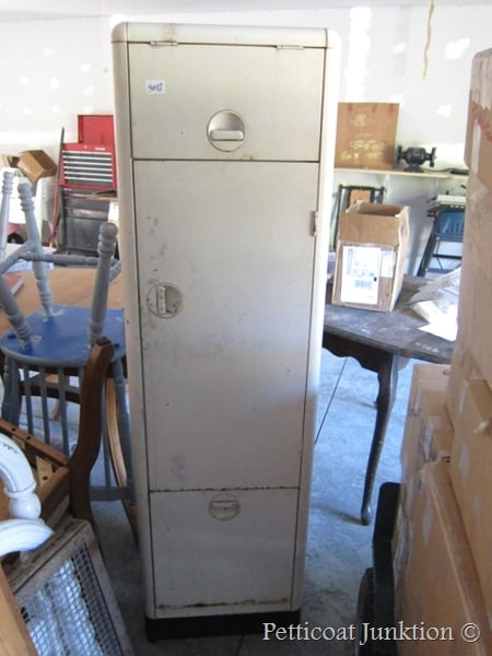 vintage metal kitchen cabinet, Petticoat Junktion