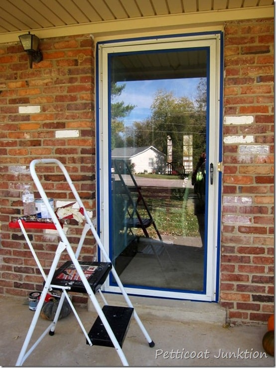 painting a metal storm door