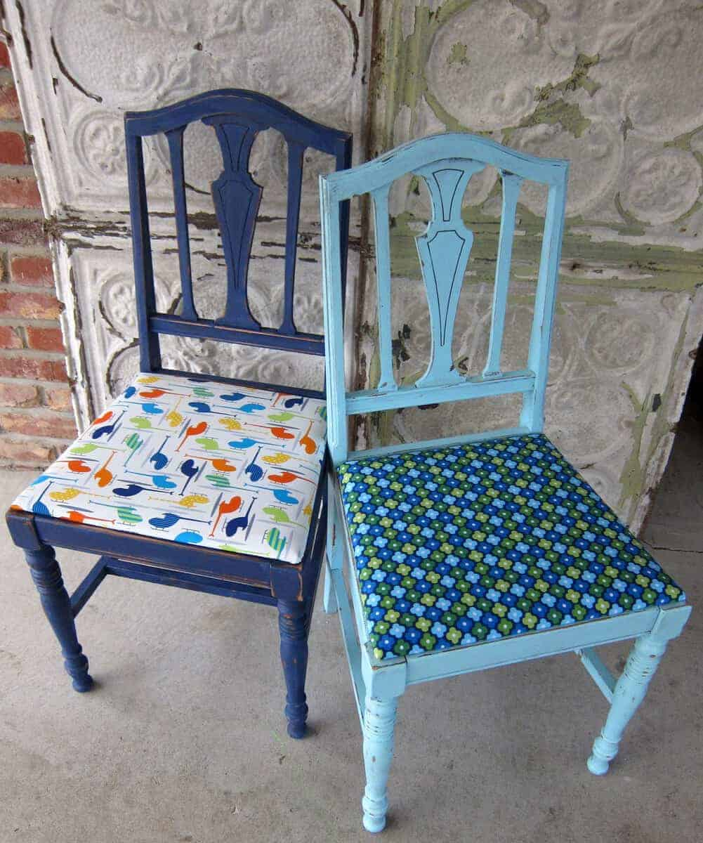 painted chairs, Petticoat Junktion
