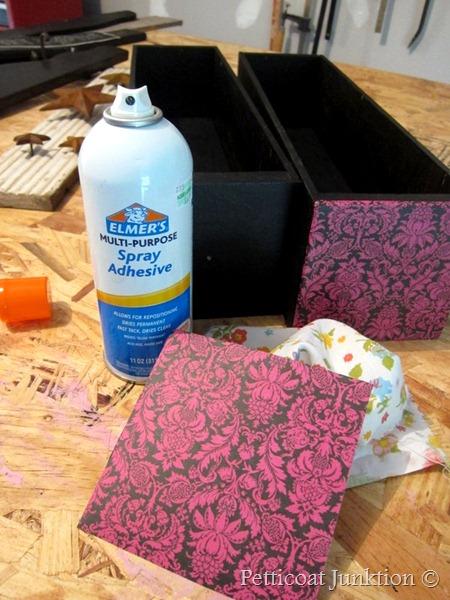 Decoupage using spray adhesive, Petticoat Junktion