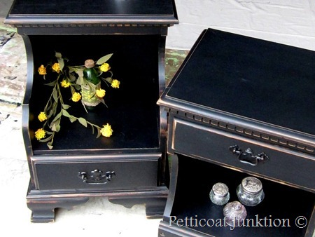 Painted Nightstands, Petticoat Junktion
