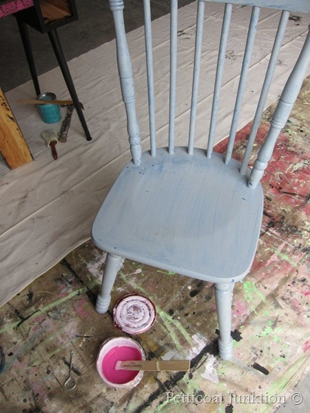 painted chair, Petticoat Junktion