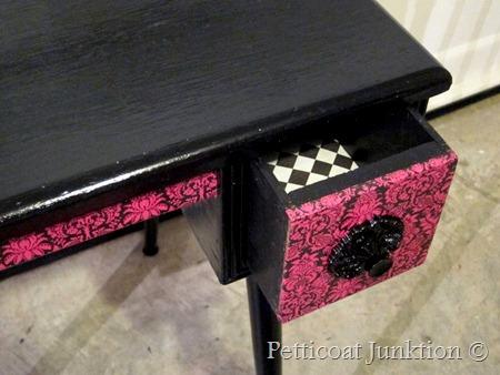 Decoupage desk, Petticoat Junktion