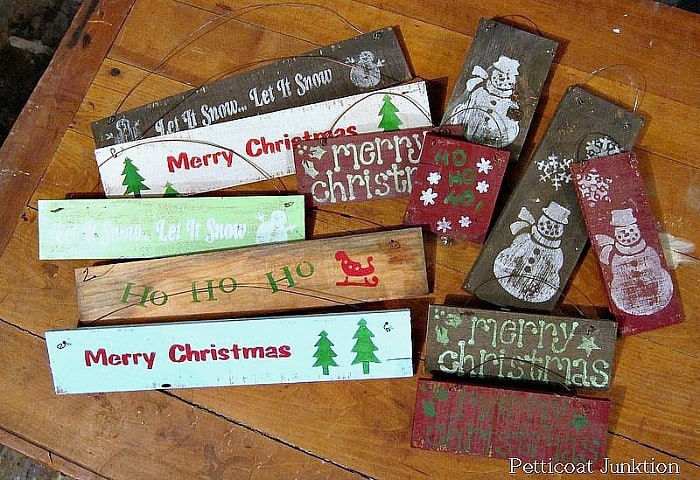 5 minute diy Christmas signs
