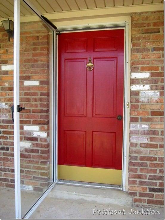 spray paint shiny brass door hardware