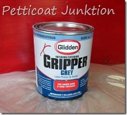 How to paint your front door using Glidden Gripper Primer, Petticoat Junktion