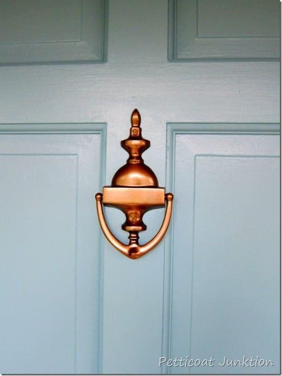 spray paint door hardware, Petticoat Junktion