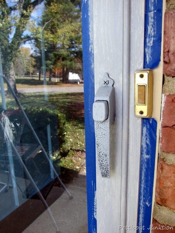 how to paint your front door and metal framed storm door. Black Bedroom Furniture Sets. Home Design Ideas