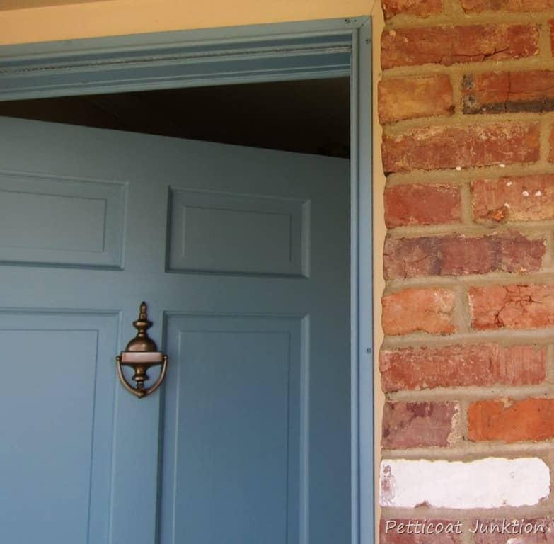 Painted Metal Storm Door And Front Door Home Improvement