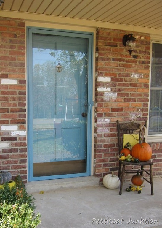 Painted Metal Storm Door and How to paint the front door