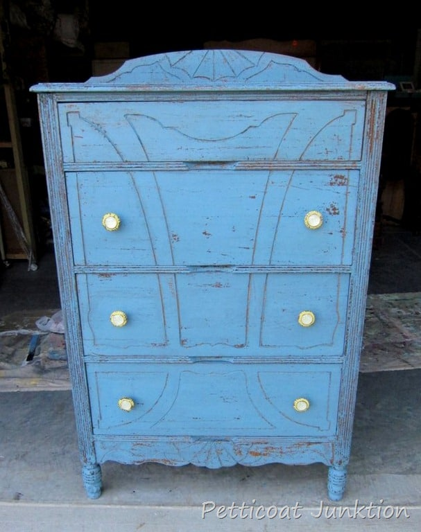 Cute Knobs And Miss Mustard Seed Milk Paint In French Enamel For Vintage Chest