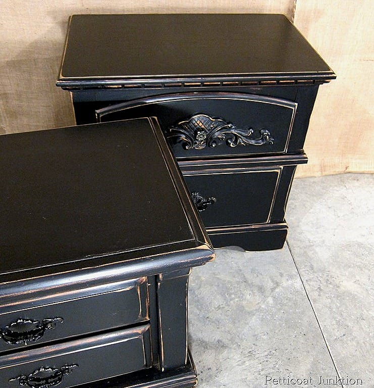Painting Bedroom Furniture Black i have a thing for nightstands-petticoat junktion