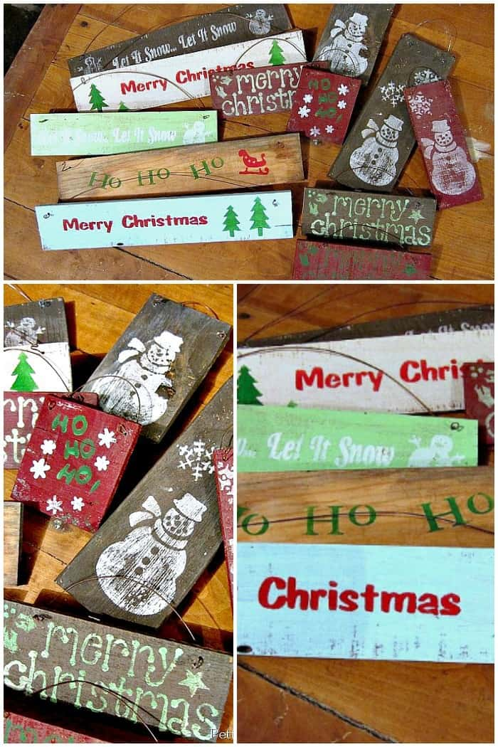 Inexpensive Christmas signs project